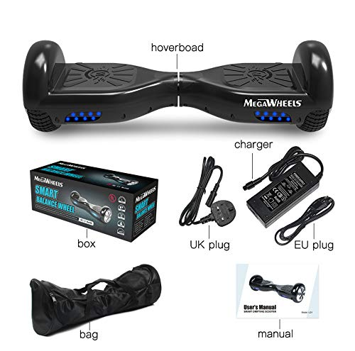 """M MEGAWHEELS Hover Self-balancing boards 6.5/"""" Electric Self Balancing Scooter Board Built in Bluetooth Speaker with LED light UL Certified/…"""