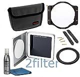 Haida 100mm 10 Stop Neutral Density Filter Kit for 77mm Lens - Includes Haida 4x4 Filter Holder, Haida 4x4 ND 3.0 (10-stop) ND Filter & 77mm Adapter Ring includes 2filter cleaning kit!
