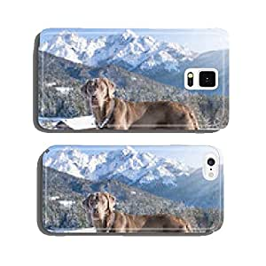 Dog in snow cell phone cover case Samsung S5