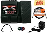 DigiTech BP90 Bass Multi-Effects Pedal Bundle with Power Supply, Instrument Cable, Patch Cable, Picks, and Austin Bazaar Polishing Cloth