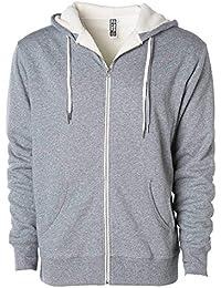27c2fb430004 Global Heavyweight Sherpa Lined Zip Up Fleece Hoodie Jacket for Men and  Women
