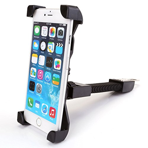 Motorcycle Phone Mount, Yerwal Universal Bicycle Motorcycle Rearview Mirror Mount Stand for 3.5''-7'' Smartphone/Cell phone - With 360 Degree Rotation (Black) 7' Motor