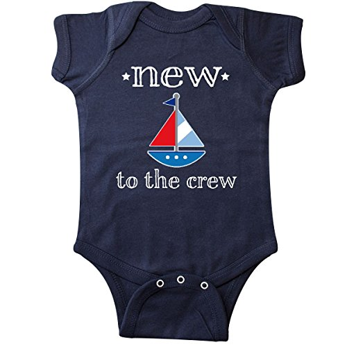 - inktastic - Baby Boy New to The Crew Infant Creeper 6 Months Navy Blue 2ae7d