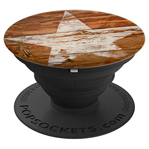 Rustic Barn Wood Texture Country Lone Star Texas Pop Up - PopSockets Grip and Stand for Phones and Tablets