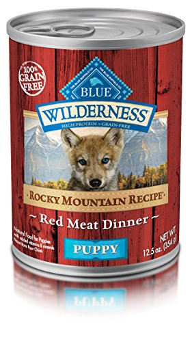 Blue Buffalo Wilderness Rocky Mountain Recipes Puppy Red Meat - Grain Free 12.5 oz, Pack of 12