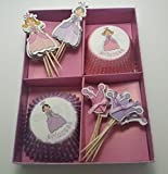 Princess Cupcake Wrappers and Toppers 48 Cases and Picks