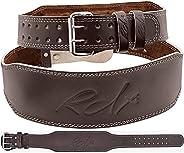 "RDX Weight Lifting Belt Leather, 4"" Padded Lumbar Back Support, 10 Adjustable Holes, Functional Training Bodyb"