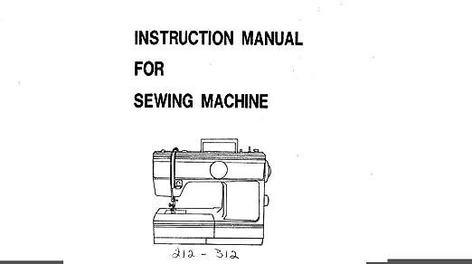 Descargar Pdf-File Pfaff 212-312 manual de instrucciones máquina ...