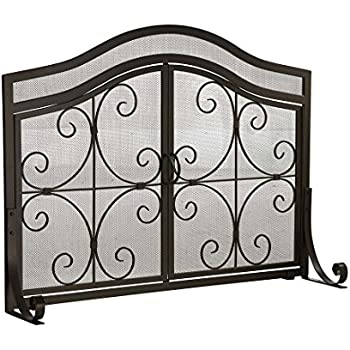 Amazon.com: Uniflame, S-1062, Medium Single Panel Black Wrought ...