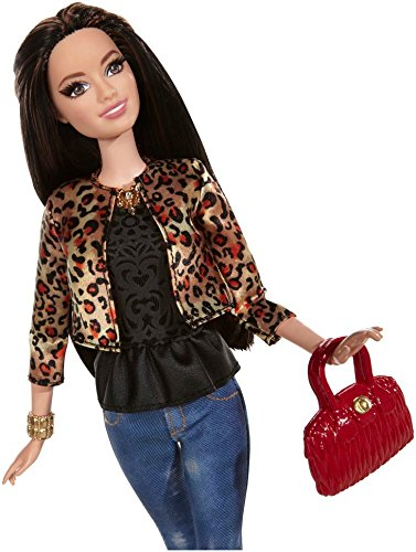 Barbie Style Raquelle Doll Leopard Print Jacket Import It All