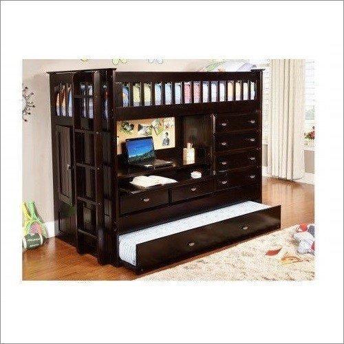 Donco Kids ALL IN ONE LOFT BED - DARK ESPRESSO