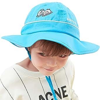 Siggi UPF50+ 4-10 Years Kid Bucket Sun Hat for Girls Foldable Floppy 51-53CM with Chin Cord Blue