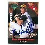 Ben Hendrickson autographed Baseball Card (Minor League Card) - Autographed Baseball Cards