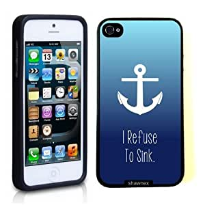 Case For Ipod Touch 5 Cover Thinshell Case Protective Case For Ipod Touch 5 Cover I Refuse To Sink Anchor Ombre