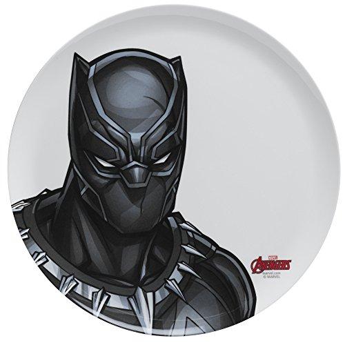 Zak Designs Avengers 10in Durable Melamine Plate, Avengers Black Panther