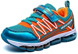 Brucest The Fashion Kids Energy Air Running Velcro School Athletic Shoes Tennis Sneakers (Little Kid/Big Kid) Turquoise/Orange5 M US Big Kid New Style.