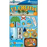 Reminisce Jet Setters 2 3-Dimensional Sticker, Florida