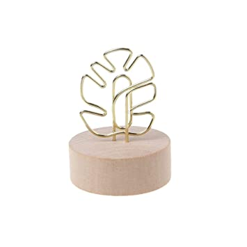 Wedding Table Wooden Place Number Name Card Note Picture Memo Stand Holder Clip
