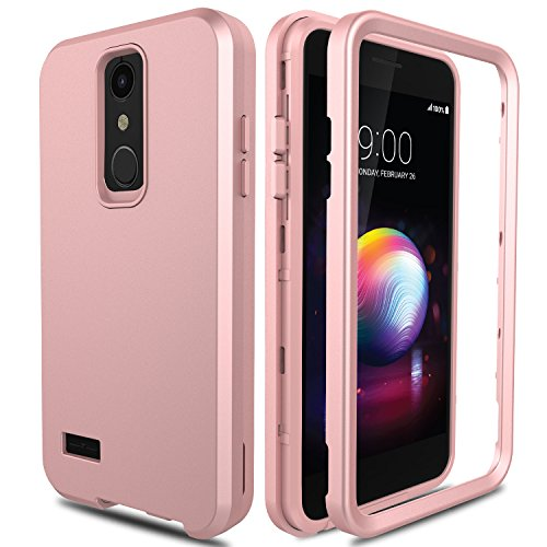 LG K30 Case, LG Premier Pro Case L413DL, LG Phoenix Plus/Xpression Plus Case, AMENQ 3 in 1 Heavy Duty Protection Shockproof Silicone Rubber Shell Scratch Resistant PC Armor Phone Cover - Cover Lg Xpression