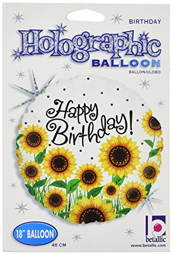 Betallic 86682P Sunny Sunflower Birthday Packed Balloon, 18