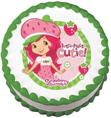 Peachy Amazon Com Strawberry Shortcake Birthday Cake Edible Image Personalised Birthday Cards Veneteletsinfo