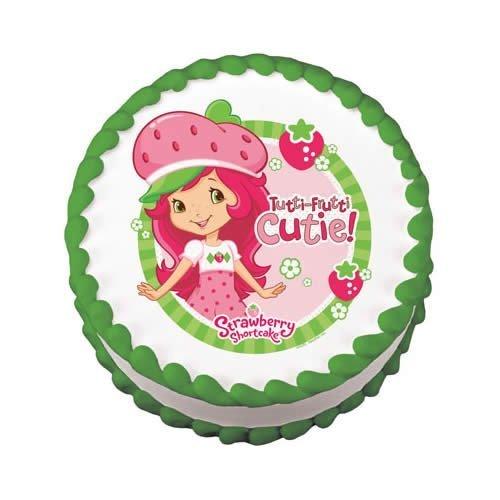(StrawBerry ShortCake Birthday Cake Edible Image Decoration)