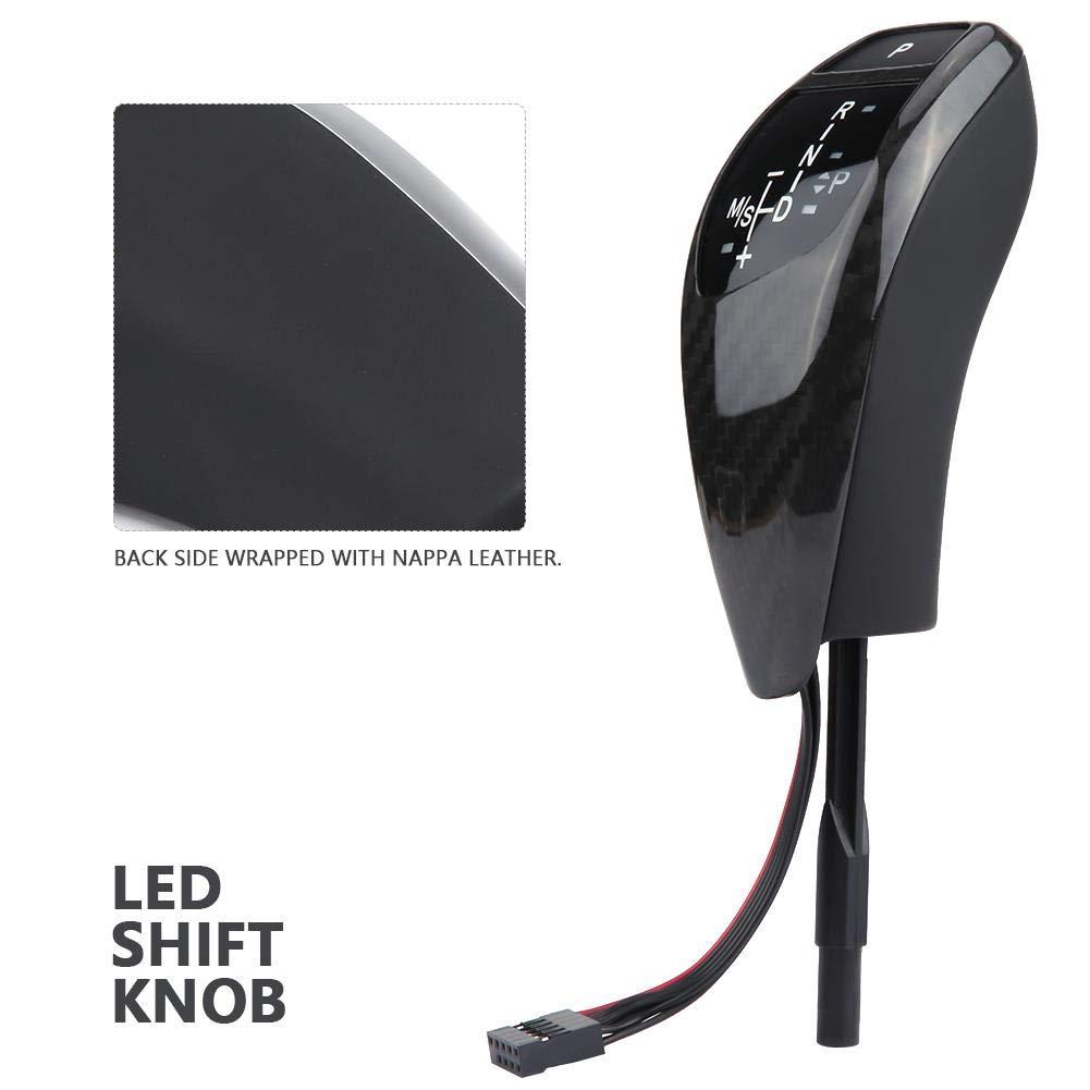 Gear Shift Knob Carbon Fiber 2 * 2 LHD Automatic LED Gear Shift Knob for BMW E90 E91 E93 E81 E82 E84 E87 E88 E89