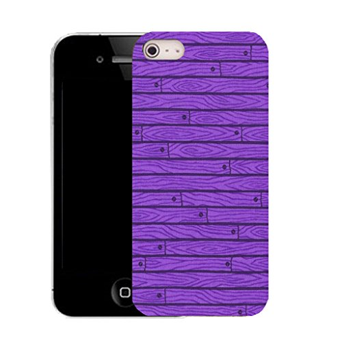 Mobile Case Mate IPhone 5 clip on Silicone Coque couverture case cover Pare-chocs + STYLET - purple wall grain pattern (SILICON)