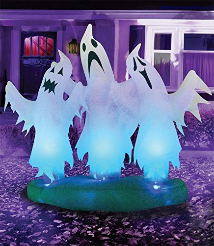 Color Changing Ghosts Inflatable Airblown 6 FT Halloween Props One Size OC37323