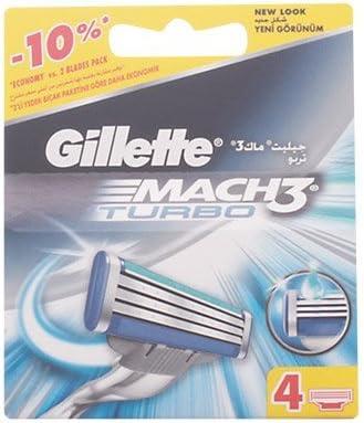 Gillette Mach 3 Turbo Cargador 4 Recambios 490 g: Amazon.es: Salud ...