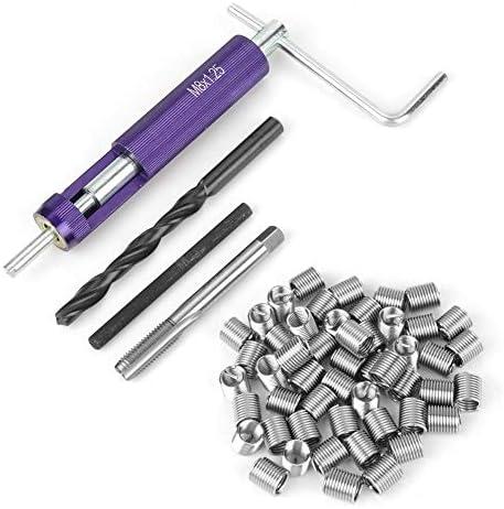 Gewindereparatur-Einbausatz Thread Repair Kits + 50 Stück Edelstahl Coiled Wire Helical Gewindeeinsätze M8 x 2D