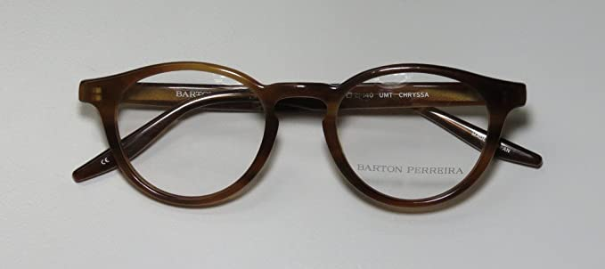 7b2ecaa73d Amazon.com  Barton Perreira Chryssa Mens Womens Designer Full-Rim Shape  Premium Eyeglasses Eye Glasses (46-21-140