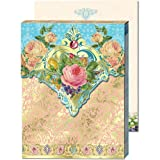 Roses Bouquet Romance Mini Notepad with magnet, Punch Studio, Three, Office Central