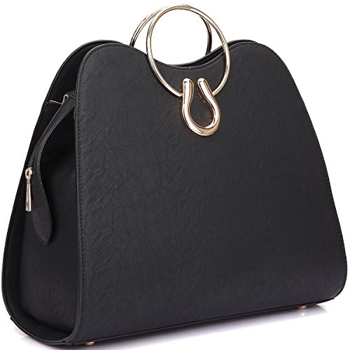 dasein-womens-structured-ring-tote-with-removable-shoulder-strap-medium-black