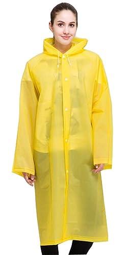 ColorRain moda transparente impermeable lluvia Chubasqueros / Poncho Impermeable chaqueta para mujer...