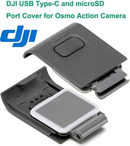 OSMO Action Camera 4K HD Video Cam Digital Waterproof HDR-Video Battery Charging Kit Adhesive Mount Kit Frame Kit Accessories Compatible with DJI OSMO Action Camera DJI Genuine USB-C Cover