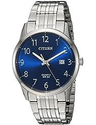 Citizen Mens Quartz Stainless Steel Casual Watch, Color:Silver-Toned (Model: BI5000-52L)
