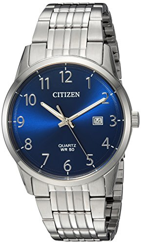 Citizen Men's Quartz Stainless Steel Casual Watch, Color:Silver-Toned (Model: BI5000-52L) (Citizen Eco Drive Radio Controlled Perpetual Calendar Wr100)