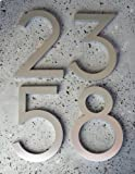 Modern House Numbers Aluminum Modern Font Set of Four 4 inch numbers
