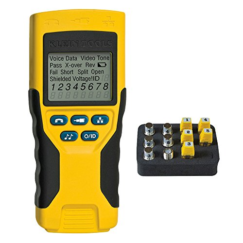 Cable Tester, VDV Scout Pro 2 Traces and Tests Coax, Data, Telephone Cable with Remotes Klein Tools VDV501-823 ()