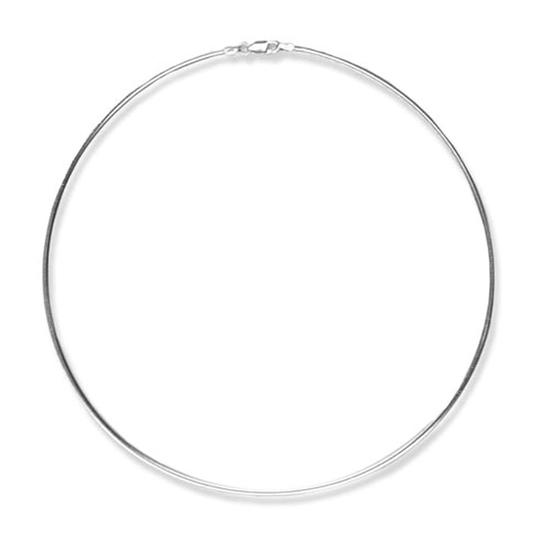 Halsreif  Schmuck-Pur Echt 925/- Silber Omegareif Halsreif 2,00 mm: Amazon ...