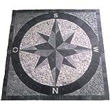 granit rosone 67x67 cm f r drau en windrose mosaik einleger schwarz weiss 036 baumarkt. Black Bedroom Furniture Sets. Home Design Ideas