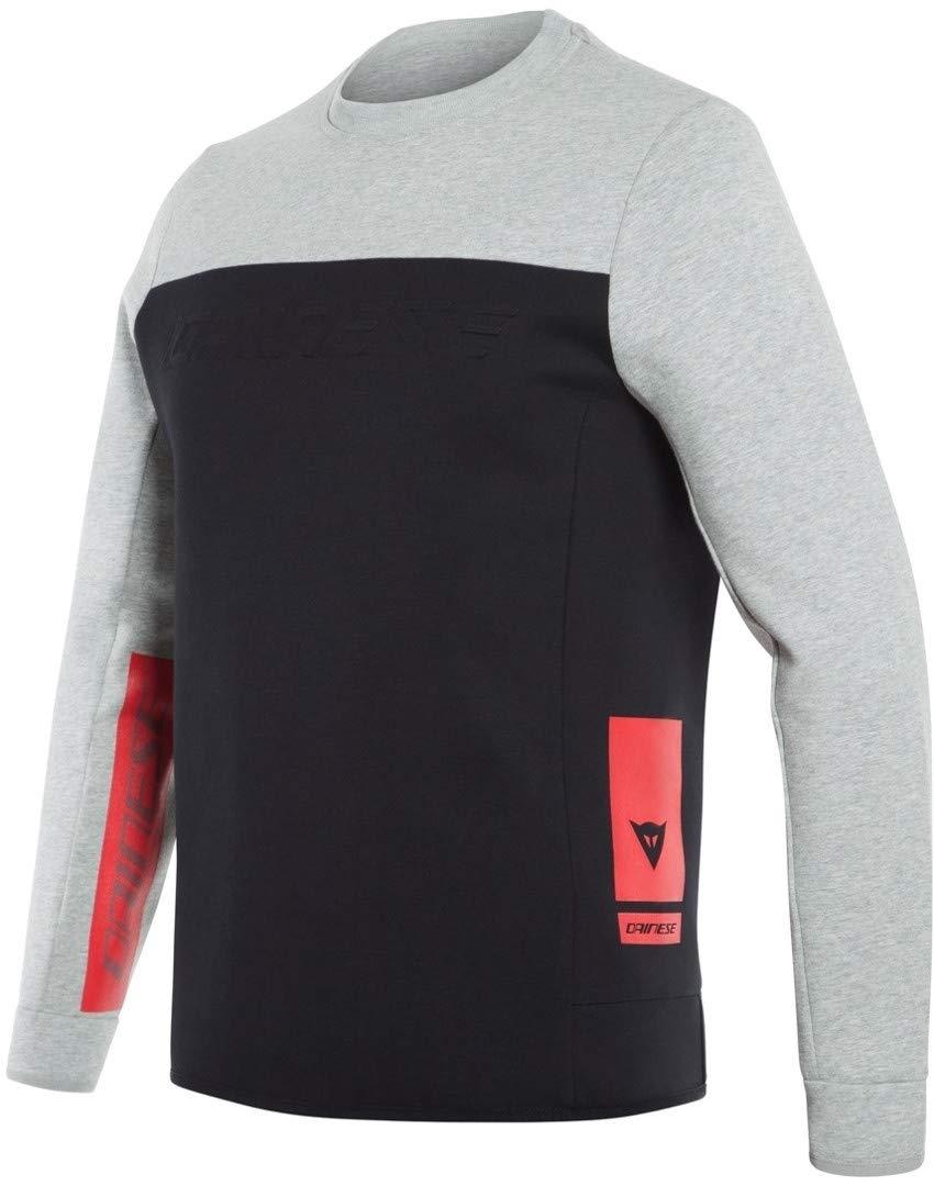Dainese コントラストスウェットシャツ L ブラック 20189679045BL B07L91XD5K