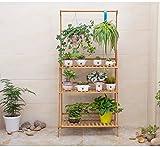 Solid Wood Original Living Room Hanging Multi-storey Flower Frame Floor Balcony Basket Basket Flower Frame Simple