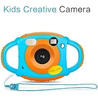 XuBa Mini Cámaras Digital de Proyección de 5Mp HD con Cuello Lindo para Niños Fotografía de Video