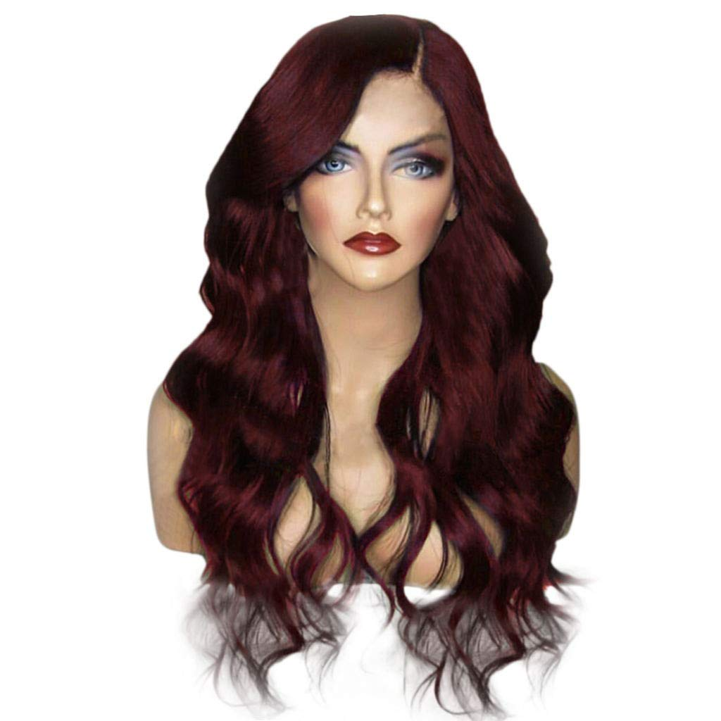 CIELLTE Perruques Longues Bouclée Ondulées Cheveux Frisée Artificiels Cheveux Résistant à la Chaleur Cheveux De Fibre Synthetique Postiche CIELLTE DIY