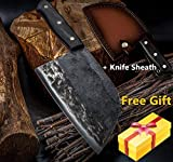 Butcher Knife Chef Kitchen Knives Handmade Forged High Carbon Clad Steel Cleaver Hunters