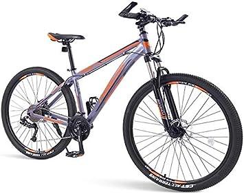 LAZNG Las Bicicletas de montaña for Hombre, 33 Velocidad Hardtail Bicicleta de montaña, Doble Marco del Freno de Disco de Aluminio, Bicicleta de los Hombres de una trayectoria, Rastro y montañas: Amazon.es: