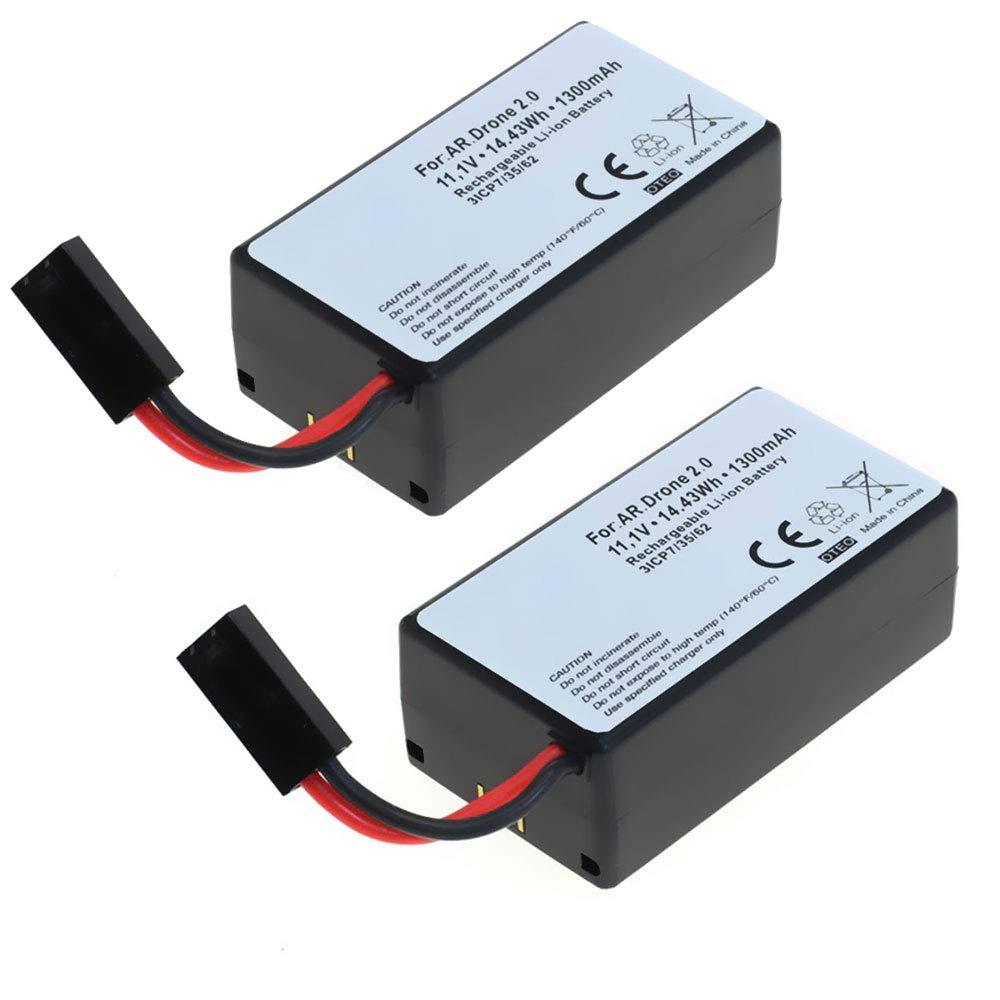 subtel 2X Batería Premium Compatible con Parrot AR.Drone 1.0 / AR ...