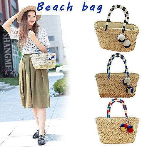 sac à en bandoulière tissé à demi Sac pour femme paille tissu à sac yunt à en sac à main main lune main Sac bandoulière bambou aUPHdq